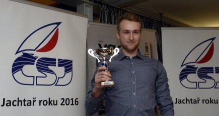 Ondřej Teplý vyhrál 12. ledna v Praze kategorie mužů a juniorů v anketě Jachtař roku 2016.