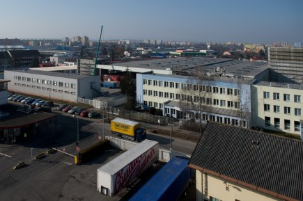 Areál pivovaru Budějovický Budvar (snímek z 13. února 2017).