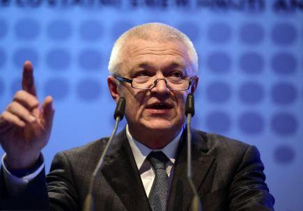 Závěrečný den celostátního sněmu hnutí ANO 26. února v Praze. Jaroslav Faltýnek při jeho projevu.