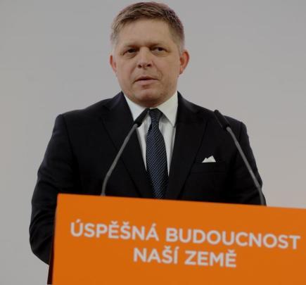 Slovenský premiér Robert Fico vystoupil 11. března v Brně jako host na závěrečném dnu sjezdu ČSSD.