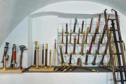 Hasičské muzeum v Chrastavě na Liberecku slaví 20. výročí od založení. Na snímku z 13. května je část muzejní expozice.