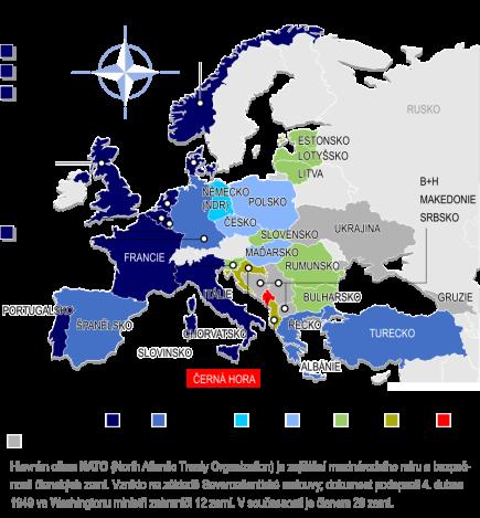 Černá Hora bude 29. členem NATO, které se rozšíří po osmi letech