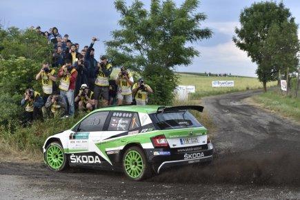 Rallye Hustopeče, čtvrtý závod seriálu mistrovství České republiky v automobilových soutěžích, 16. června v Hustopečích na Břeclavsku. Posádka Jan Kopecký a Pavel Dresler s vozem Škoda Fabia R5.
