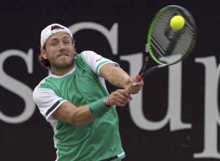 Francouzský tenista Lucas Pouille.