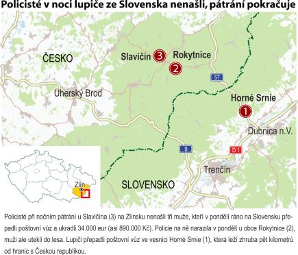 Ilustrační mapka oblasti.