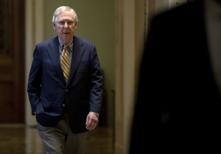 Vůdce republikánů v americkém Senátu Mitch McConnell.