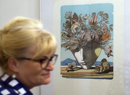 Grafika Josefa Lieslera na výstavě k stému výročí založení Sdružení českých umělců grafiků Hollar, která byla zahájena 13. září v Praze.