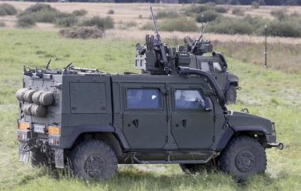 Ukázka připravenosti na cvičení armád v Dolním Rakousku.
