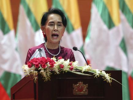 Barmská vůdkyně Do Aun Schan Su Ťij.