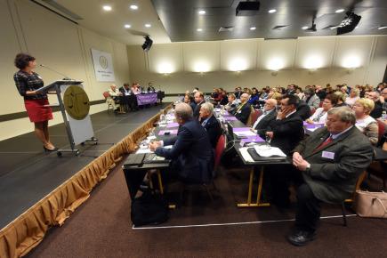 Prezidentka Soudcovské unie ČR Daniela Zemanová vystoupila 6. října v Ostravě na sněmu, na kterém si unie zvolí nové vedení.