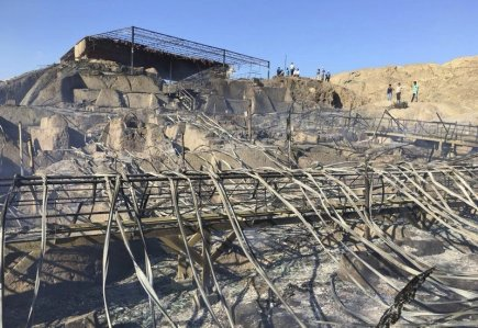 Peruánský chrám v archeologickém nalezišti Ventarrón starý kolem 4000 let v neděli vážně poškodil požár. K úhoně přišla zejména nástěnná malba.