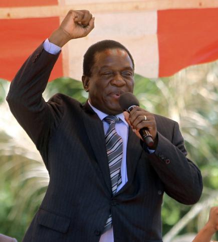 Odvolaný viceprezident Zimbabwe Emmerson Mnangagwa