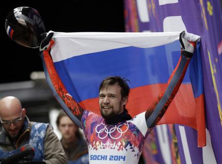 Ilustrační foto - Ruský skeletonista Alexandr Treťjakov.