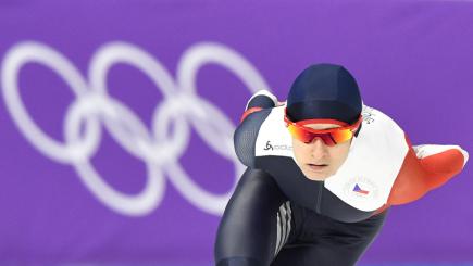 XXIII. zimní olympijské hry, rychlobruslení, ženy, 3000 m, 10. února 2018 v Kangnungu. Česká reprezentantka Martina Sáblíková.