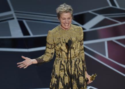 Oscara v kategorii nejlepší herečka v hlavní roli získala Frances McDormandová, která ztvárnila roli Mildred Haynesové ve filmu Tři billboardy kousek za Ebbingem.