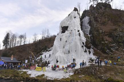 Na ledové stěně ve Víru na Žďársku se 10. března uskutečnilo Mistrovství republiky v ledovém lezení na rychlost - Vírský cepín 2018. Umělý ledopád byl vytvořen na čtyřicet metrů vysoké skále u řeky Svratky. Je to nejvyšší uměle vytvořená ledová stěna v Česku.
