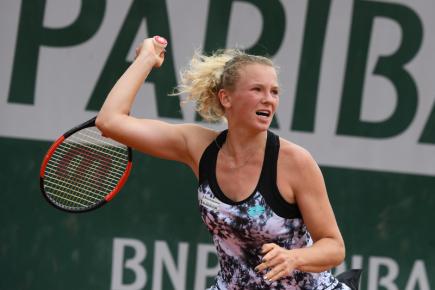 Česká tenistka Kateřina Siniaková (na snímku) prohrála 1. června 2018 v utkání 3. kola turnaje French Open v Paříži s krajankou Barborou Strýcovou 2:6, 3:6.