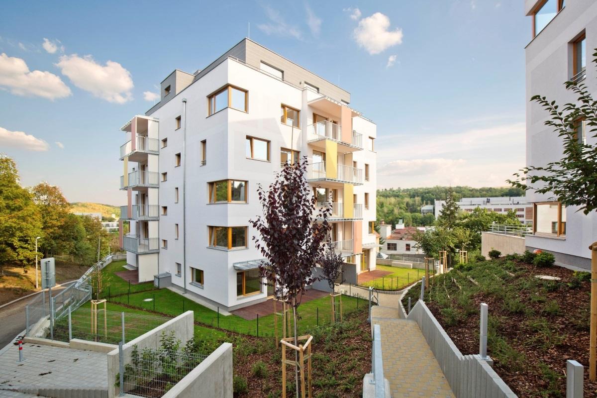 Rezidence Na Farkáně s celkem 49 komfortními byty ve dvou bytových domech
