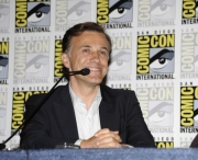 Herec Christoph Waltz na tiskov konferenci.