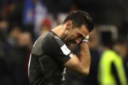 Zklamaný brankář Itálie Gianluigi Buffon.