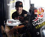 Motocyklista Jan Brabec z týmu Big Shock Racing, který se v lednu postaví na start Rallye Dakar, vystoupil 15. listopadu v Praze na tiskové konferenci.
