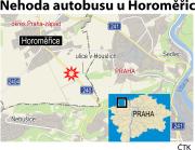 Ilustrační mapka oblasti s vyznačením místa nehody.