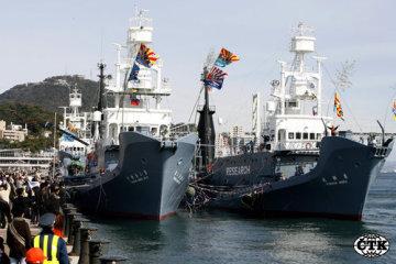 Japonská velrybářská flotila.