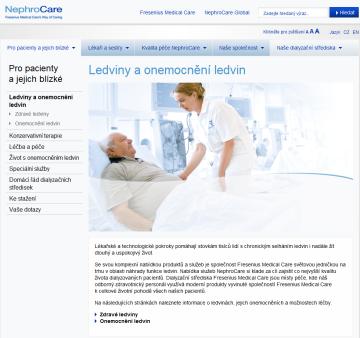 www.nephrocare.cz – web (nejen) pro pacienty s onemocněním ledvin