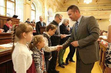 slavnostní vyhlášení celostátní soutěže pro dětské týmy Srdce s láskou darované Foto: archiv PS PČR
