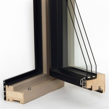Řez dřevohliníkovým oknem Domestik