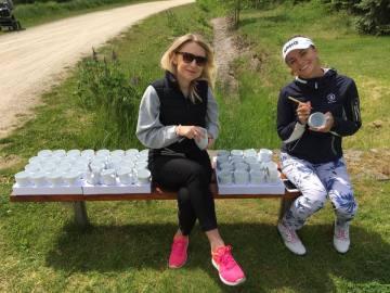Klára Spilková a Lída Šimáčková za Lymfom help