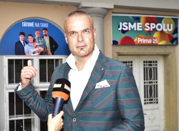 Televize Prima představila na tiskové konferenci 2. srpna 2018 v Praze své podzimní vysílací schéma. Na snímku je hudební producent a scénárista Jaro Slávik.