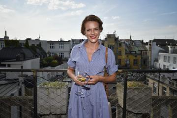Herečka Andrea Kerestešová se zúčastnila 7. srpna 2018 v Praze tiskové konference skupiny Nova k podzimnímu vysílacímu schématu.