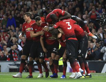 Radost fotbalistů Manchesteru United.