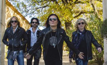 Rocková skupina The Dead Daisies  (zleva) - Doug Aldrich (Whitesnake, Dio), Deen Castronovo (Journey, Bad English and Hardline), Glenn Hughes (Deep Purple, Black Country Communion) and David Lowy (Mink and Red Phoenix).
