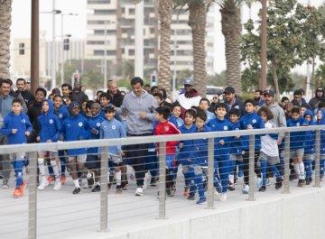 Emír Kataru při oslavách sportovního dne