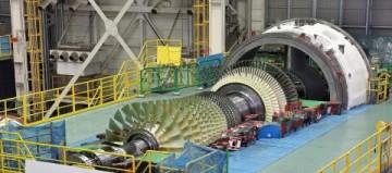 Plynová turbína MHPS M501JAC se vyrábí v továrně Takasagu v prefektuře Hjógo v Japonsku. (Fotografie: Business Wire)