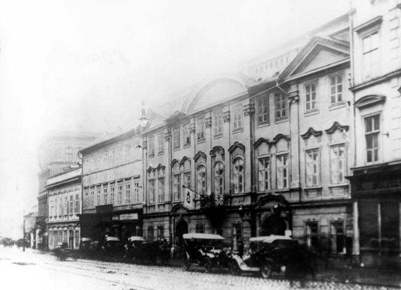 Harrachovský palác, dočasné sídlo ČTK v r. 1918