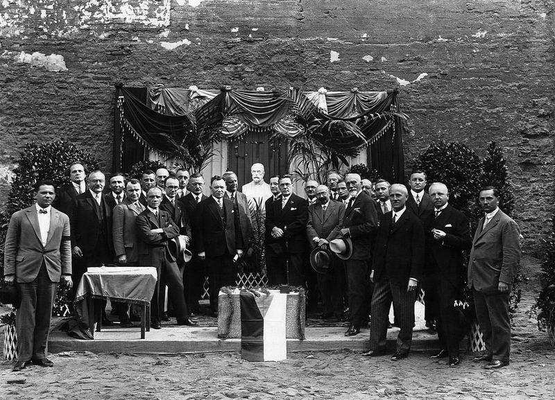 Slavnostní položení základního kamene k budově ČTK 24. září 1928