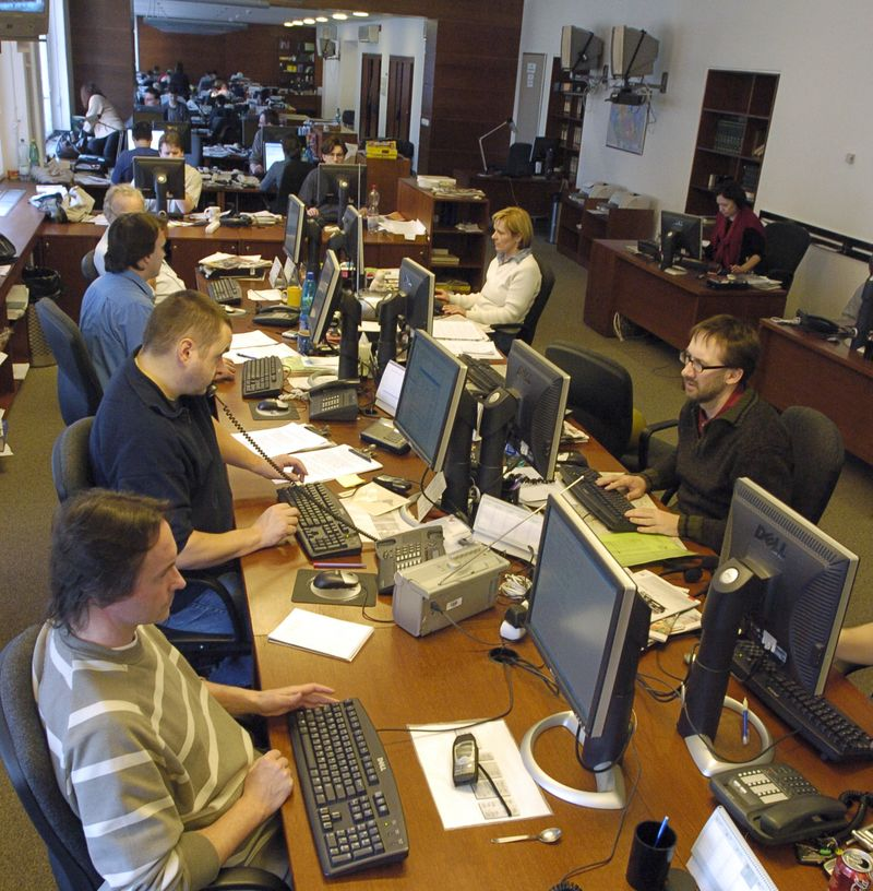 Zpravodajský sál ČTK v roce 2004