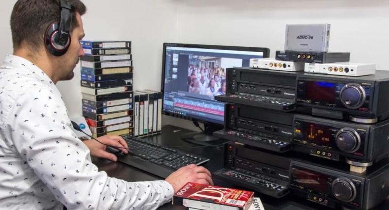 Profesionální digitalizace VHS a všech kamerových pásků.