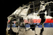 Část rekonstruovaného boeingu letu MH17 na prezentaci závěrečné zprávy nizozemských vyšetřovatelů.