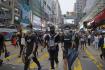Prodemokratická demonstrace v Hongkongu na snímku ze 17. srpna 2019.