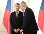 Ilustrační foto - Premiér Andrej Babiš (vlevo) na setkání s prezidentem Milošem Zemanem na zámku v Lánech.