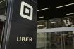 Ilustrační foto - Logo amerického provozovatele alternativní taxislužby Uber.