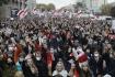Ilustrační foto - Demonstrace proti režimu prezidenta Alexandra Lukašenka v Minsku 25. října 2020.