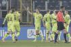 Kvalifikace mistrovství světa ve fotbale 2022, skupina E, utkání Estonsko - ČR. Fotbalisté Česka se radují z gólu.