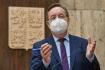 Nový ministr zdravotnictví Petr Arenberger vystoupil 9. dubna 2021 v Praze na briefingu k aktuální epidemické situaci.