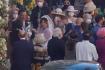 Lady Gaga ve svatebních v Římě šatech při natáčení filmu The House of Gucci (Dům Gucci), 8. dubna 2021.