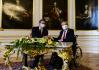 Prezident Miloš Zeman (vpravo) přijal 18. května 2021 na Pražském hradě srbského prezidenta Aleksandara Vučiče.